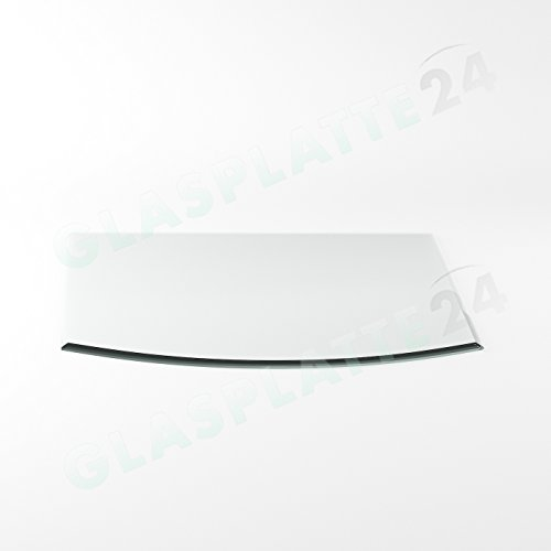 Preisvergleich Produktbild Funkenschutzplatte G27 Segmentbogen ESG 6mm x 1000mm x 1000mm mit 18mm Facette Glasplatte Bodenplatte Kaminplatte Funkenschutz Ofenplatte Kaminglas