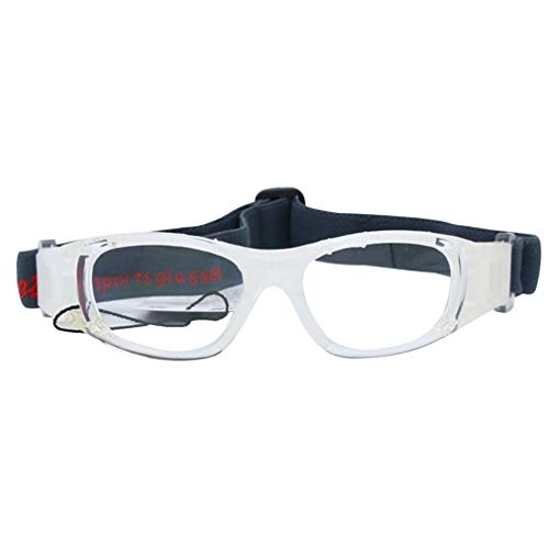 GreatWall Explosionsgeschützte Basketballbrille Myopia Football Goggles Badminton Tennis White