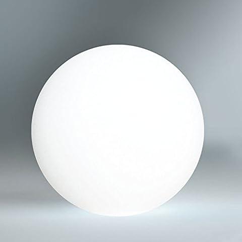 LED Kugelleuchte mit integrierten Akku, 50cm Kugel-Dekolampe mit Farbwechsel und Fernbedienung für innen und außen - wasserdichte (IP54), kabellose Gartenbeleuchtung - hängend und