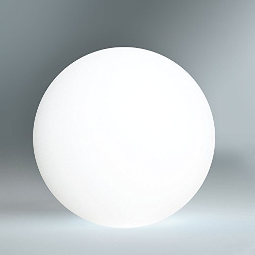 Kabellose LED Kugellampe, 30cm Kugel-Dekoleuchte mit Farbwechsel und Fernbedienung – Gartenleuchte, Kugelleuchte - hängend & stehend verwendbar - wasserdicht (IP54) für Haus und Garten