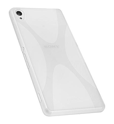 mumbi X-TPU Schutzhülle Sony Xperia Z3 / Xperia Z3 Dual Hülle transparent weiss