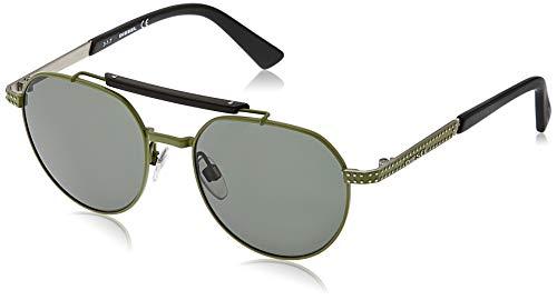 Diesel dl0239-97n-52, occhiali da sole uomo, nero (matte dark green), 52.0