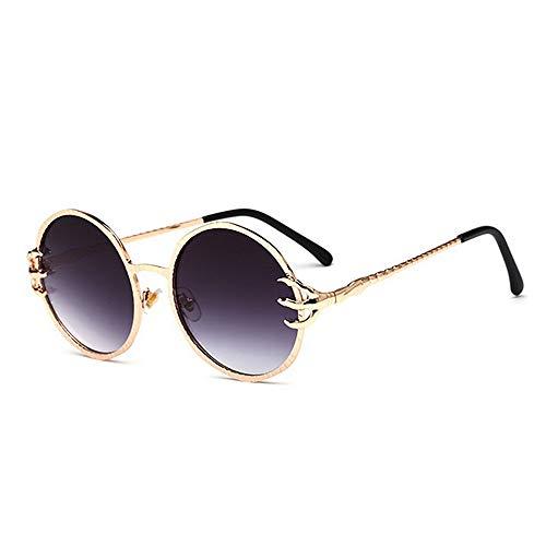 Yiph-Sunglass Sonnenbrillen Mode Retro Runde Form Full Frame Unisex-Sonnenbrille Farbiger Objektiv UV400 Schutz Fahren Strand Sommerferien (Farbe : C5)