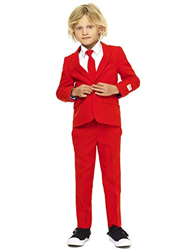 Kostüm Teufel Childs - Opposuits Crazy Suits for Boys in Different Prints - Comes with Jacket, Pants and Tie In Funny Designs