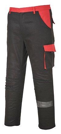 PORTWEST Pantalon de Travail coton poches genoux - Homme - M - Noir