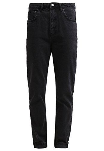 Topshop MOM Damen Jeans Hose Relaxed Fit Schwarz W34/L34