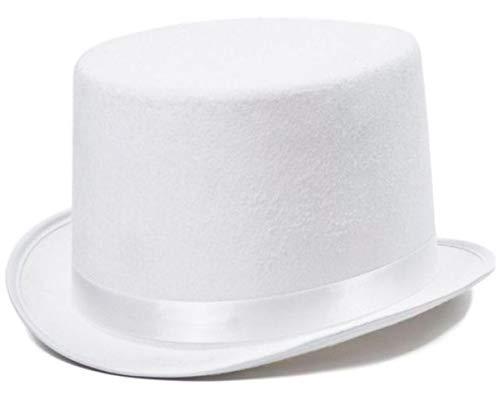 Hut Zylinder schwarz weiss rosa Hochzeit Party Spiel ®Auto-schmuck (weiß)