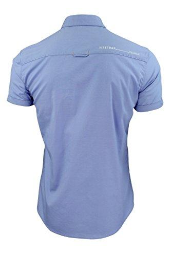 """Firetrap """"Elyne"""" Herren-Hemd, kurzärmelig mit aufgerollten Ärmeln und Brusttasche Elyne (blau)"""