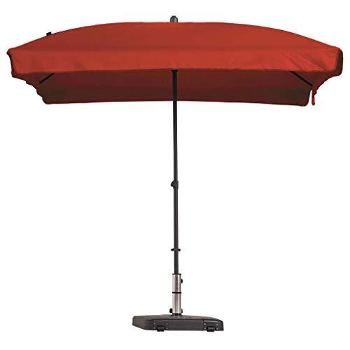 Madison Parasol Rectangulaire Inclinable Parasol de Jardin Terrasse Balcon Extérieur Plage Piscine Protection Solaire UV 50+ Rouge Brique
