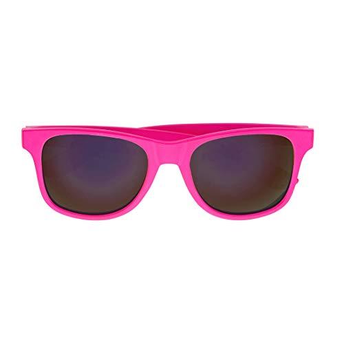 Amakando Gafas estilizadas Vintage para Dama y Caballero / Rosa Fucsia / Extraordinarias Gafas neón Fiesta años 90 / El Punto Alto para Fiestas de los años 80 y Carnaval