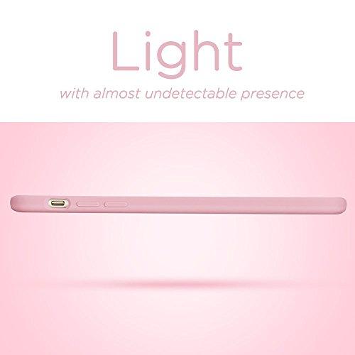 iPhone 7 Plus Hülle (5,5 Zoll), ESR® Liquid Silikon Schutzhülle mit Apple-Logo Loch Stoßdämpfung Flüssigsilikon Hülle für iPhone 7 Plus (Grau) Rosa