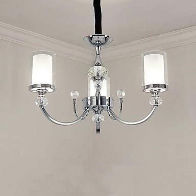 Mao&Long Luz de techo, Luz de candelabro estilo candelabro de 3 luces - Mini estilo, bombilla 110-240V no incluida / 5-10㎡ / E12 / E14