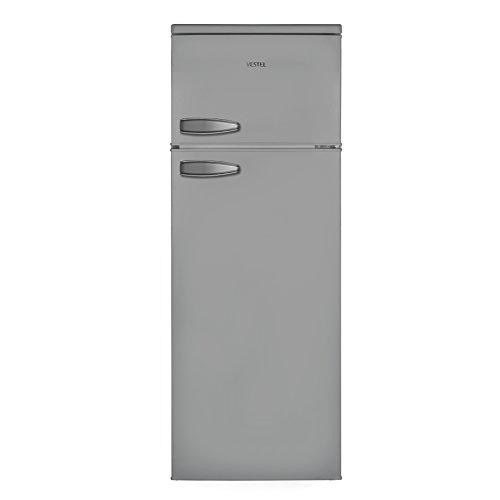 Vestel VFKS3196 Kühl-Gefrier-Kombination (Gefrierteil oben) / A++ / 144 cm 173 kWh/Jahr / 171 L Kühlteil / 42 Gefrierteil / LED-Innenbeleuchtung / Temperaturregelung / Silber