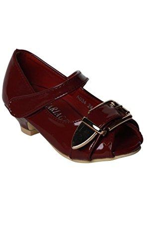 bordeaux ragazza scarpa rossa per la sera Rosso