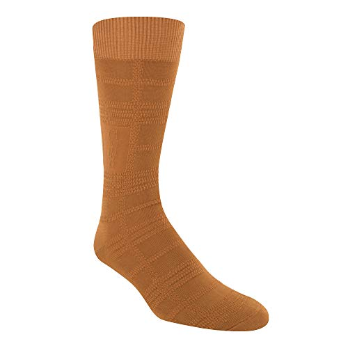 Stacy Adams Herren Men's Gemstone Logo Plaid Crew Dress Sock (1-Pair) Kleid, Cognac, Einheitsgröße