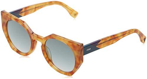 Fendi ff 0151/s qr 35j 51 occhiali da sole, rosa (pink/bw brown), donna