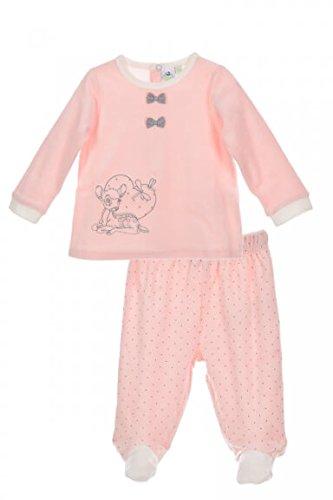 chen Hose und Shirt rosa | Motiv: Bambi | Baby Set 2 Teile für Neugeborene & Kleinkinder | Größe: 3-6 Monate (68) ()