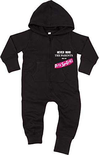 DREX SPATZELS Never Mind The Parents Baby All-in-One Sweatsuit schwarz -