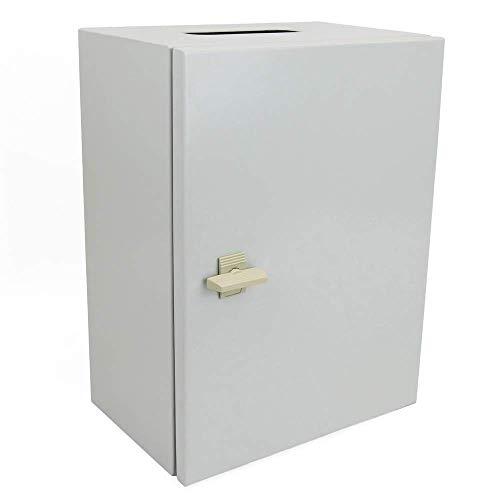 BeMatik - Caja de distribución eléctrica metálica con protección IP65 para fijación...