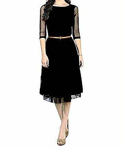Way For Fashion Womens Dress (All Western Wear_3018_Black_X-Large)