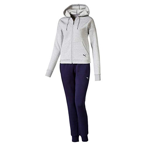 Puma Classic HD. Sweat Suit, cl, Tuta Sportiva Donna, Light Gray Heather, S