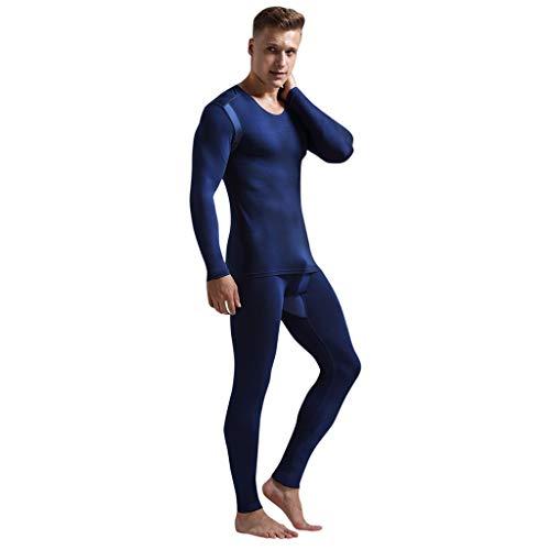 Conjunto de Pijamas Hombre Cálido Elástico Transpirable Pijama Invierno Sudadera Gimnasio Homewear Suave Cómodo Ropa de Dormir Albornoces Fannyfuny