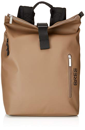 BREE Collection Unisex-Erwachsene Punch 712 Rucksack, Braun(Clay), 14x36x30 cm