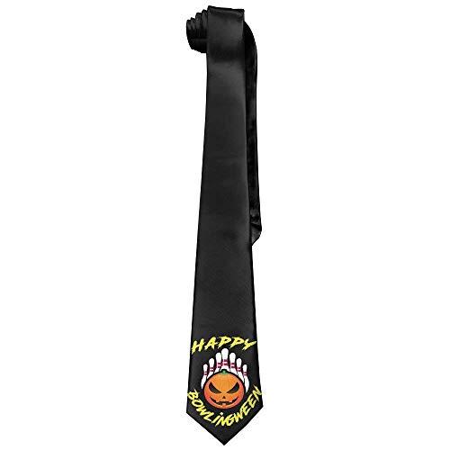 Halloween Bowling Ball Men's Tie Long Necktie Skinny Neckwear Silk