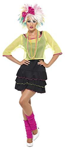 Party Pop 80er Jahre Kostüm - 80er Pop-Tussi Kostüm mit Oberteil Kleid und Haarband, Medium
