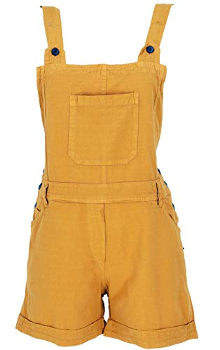 Guru-Shop Goa Shorts, Kurze Latzhose, Boho Latzhose, Damen, Mustard, Baumwolle, Size:L (40), Shorts, 3/4 Hosen, Leggings Alternative Bekleidung - Damen Shop