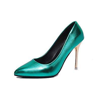 CH&TOU Da donna-Tacchi-Casual-Comoda-A stiletto-PU (Poliuretano)-Nero / Verde / Rosa / Rosso / Dorato / Champagne / Arancione green