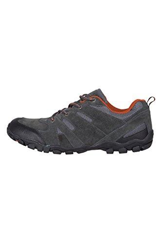 Mountain Warehouse Scarpe da Passeggio da Uomo - Tomaia in Pelle Scamosciata e Tessuto a Rete Leggera Grigio scuro