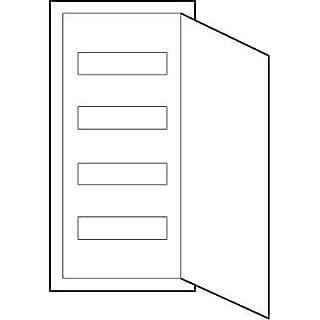 ABN Braun - 4-fach-Verteilerschiene mit der Tür