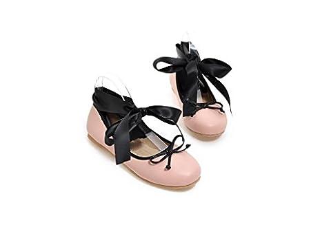 Beauqueen Pumps Frauen Frühling und Sommer flache Aerobic Schuhe Leopard Cross Straps weiblichen rosa schwarzen Casual Schuhe Europa Größe 32-48 , black , 47 (not (Rosa Pebbled Leder)