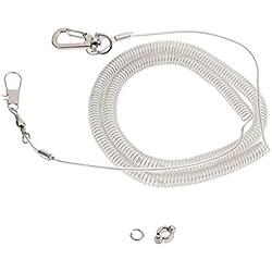 Cadena de Pie Loro Elástico Accesorios de Animales Doemsticos Resistente Duradero - Cuerda de 5 m. Y Anillo de Tobillera de Talla 6