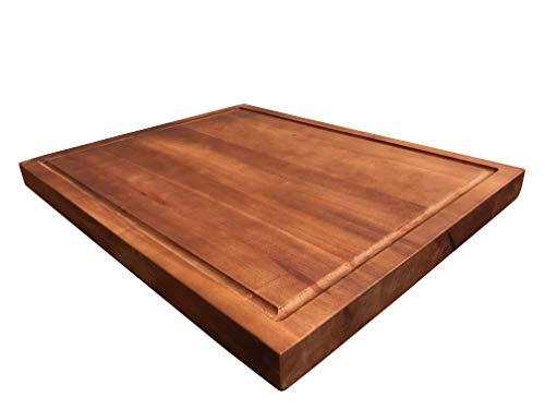 Click-Deck Schneidebrett aus Holz, Hartholzblock, stark, stabil, Schneidebrett 40 x 30 cm braun - Personalisierte Holz-messer