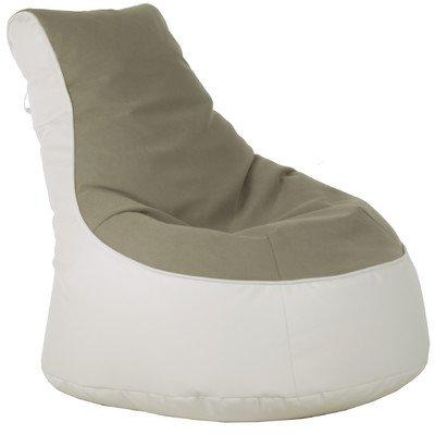 Sitzsack Lotos-Genua Farbe (Genua): Beige, Farbe (Lotos): Weiß