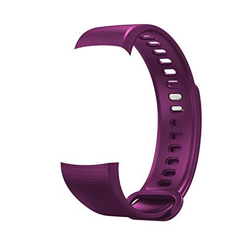 Klicop Fitness-Tracker-Uhr, Y5-Aktivitäts-Schlafschritt-Tracker, wasserdichter Herzfrequenz-Blutdruckmonitor, Bluetooth-Kalorienzähler-Pedometer Smartwatch (Farbe : T3, Size : Strap)