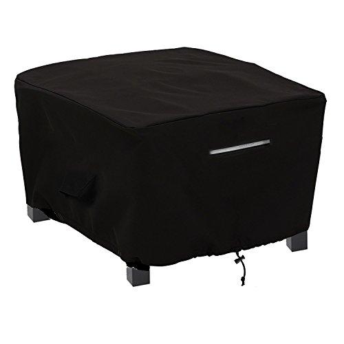 rechteckig/rund Patio Beistelltisch/Ottomane Wasserdicht, UV-beständiger Outdoor-Veranda Durable, Schwarz