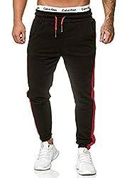 OneRedox Herren Jogging Hose Jogger Streetwear Sporthose Modell 1211 (M, Schwarz)