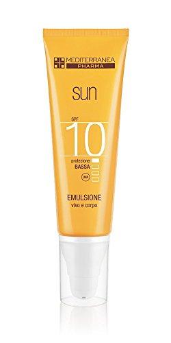 Mediterranea Pharma Sun Emulsione Viso Corpo SPF10+, Protezione Solare - 125 ml