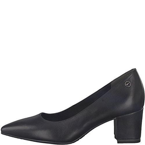 Tamaris Damen Pumps 22481-21,Frauen Pumps,Elegant,Edel,Bequem,Court-Shoe,Businessschuh,Office-Schuh,Büro-Pump,Blockabsatz 5.5cm,Black Leather,EU 41