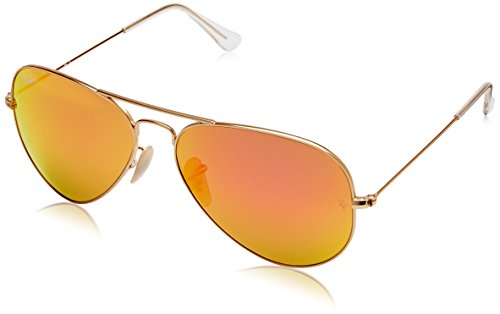 Ray-Ban Mirrored Aviator Men's Sunglasses - (0RB3025I112/6958|58|Pink Color)
