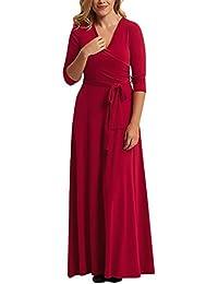 Mujer Vestidos De Fiesta para Bodas De Noche Vestido Largos Invierno Sencillos Especial Otoño Elegantes V