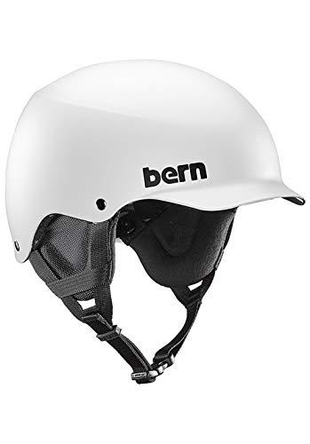 Bern Herren Helm Team Baker Winter Snow XL matt weiß