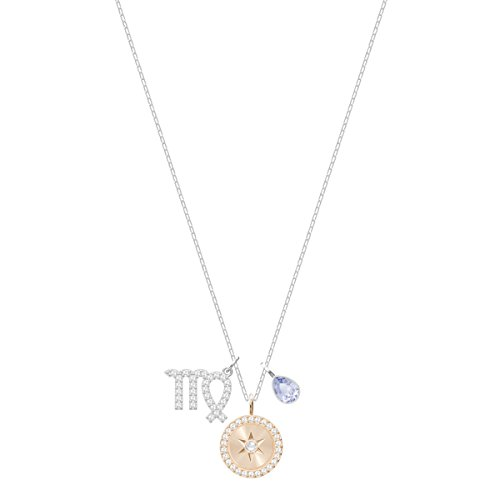 Swarovski Colgante Zodiac, Virgo, baño de rodio, Cristal Violeta, para Mujer