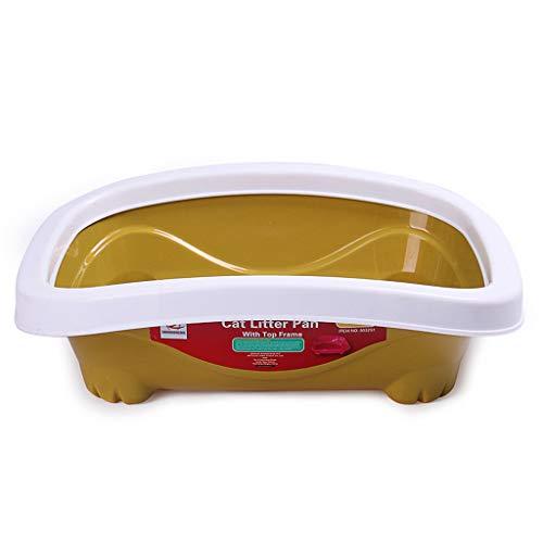 Katze Wurf Tablett Haustier Box Becken Lieferungen Toilette Sand Schüssel Praktisch Öffnen Halb Geschlossen (Farbe : B, größe : L59*48 * 18cm) -
