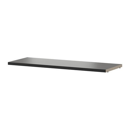 IKEA BILLY - Extra Regal, schwarz-braun - 76x26 cm