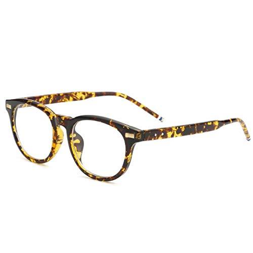 Junecat Mode Brillen-Rahmen Vintage transparente Gläser Retro Plain-Rahmen