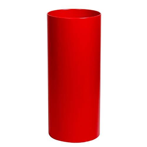 LIAN Europäische Halle Zylinderförmiger Schirm-Eimer-Schirmständer / -ständer, Kunststoff-Aufbewahrungsfach 20X50cm (Color : Red) -